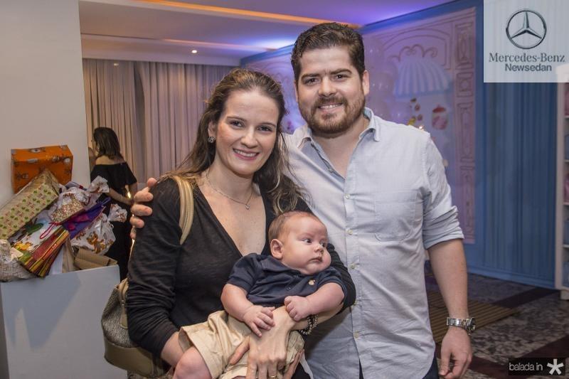 Mariena, Benicio e Andre Chilarter