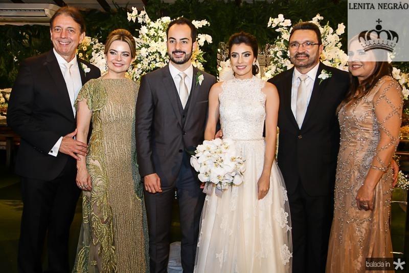 Afranio, Daniele e Felipe Barreira, Beatriz Pontes, Joao Tajra e Divane Pontes