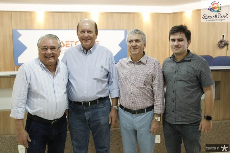 Idemar Cito, Rafael Leal, Clovis Nogueira e Idemar Filho