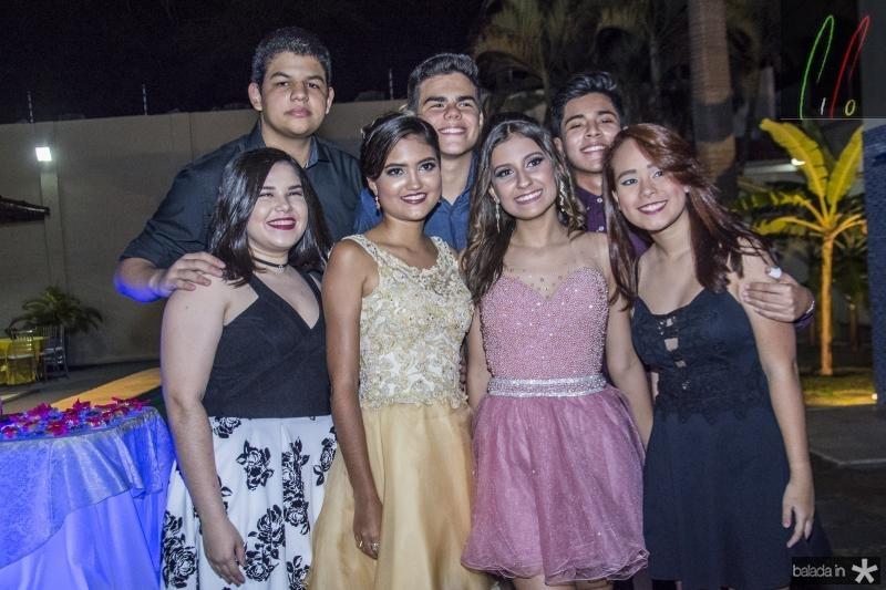 Maria Clara, Levi Guimaraes, Mirella Salema, Mariane Praciano, Eduardo Azevedo, Leonardo Wong e Aline Nery