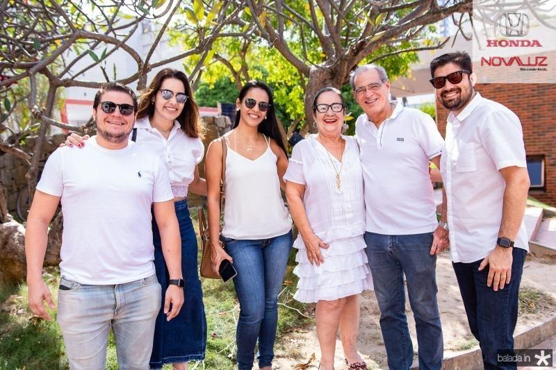Diego Studart, Ticiana Sanford, Daniela Ribeiro, Nereide Figueiredo, Paulo Pepino e Elias Petrucio