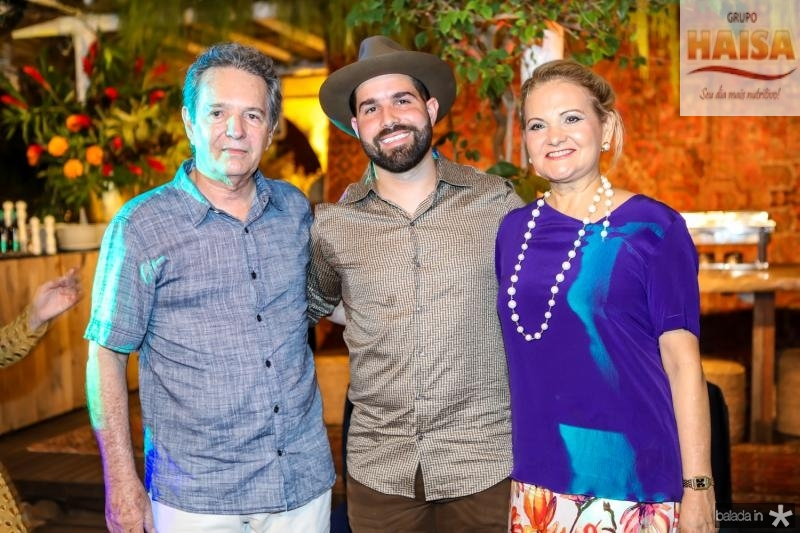 Claudio, Felip e Lenise Rocha