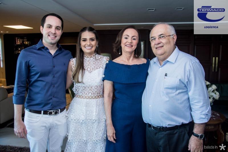 Tomas Moraes, Manuela Câmara, Gorettti Moraes e Filomeno Moraes