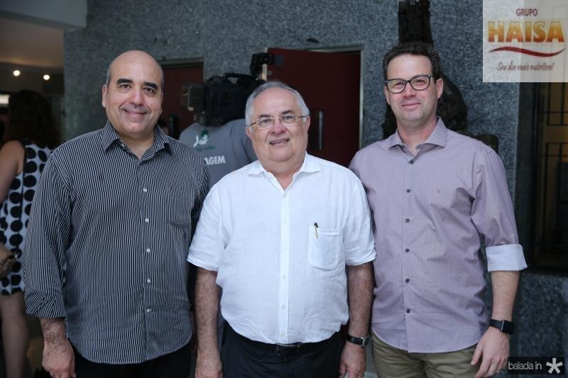Eduardo Dias, Philomeno Morais e Nestor Santiago