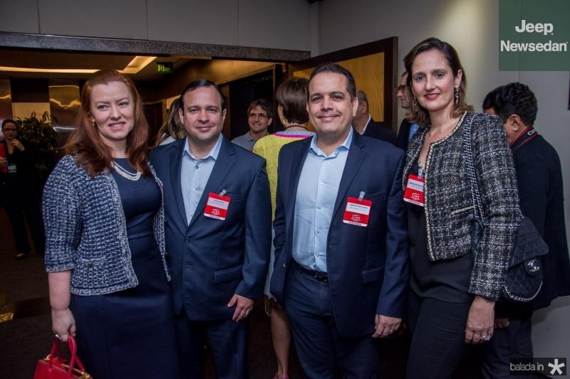 Aline Barroso, Igor Barroso, Germano Belchior e Carol Belchior