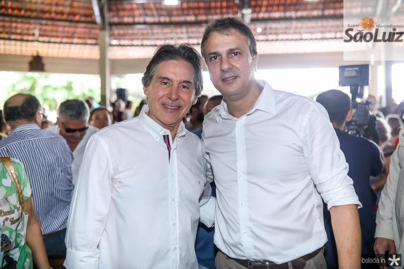 Eunicio Oliveira e Camilo Santana
