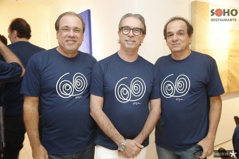 Claudio Brasil, Eugenio Vieira e Fred Pontes