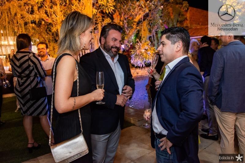 Renata Garcia, Mario Sergio Garcia e Pompeu Vasconcelos