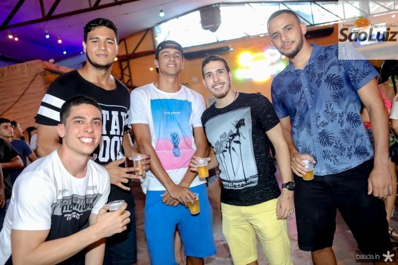 Nicolas Braga, Mateus Teixeira, Tasso Fonseca, Gabriel Fernandes e Erick Santos