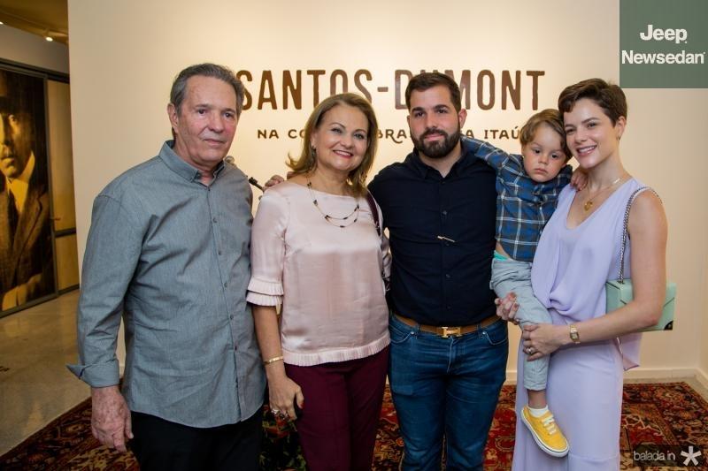 Claudio, Lenise, Felipe, Bento e Paulinha Rocha