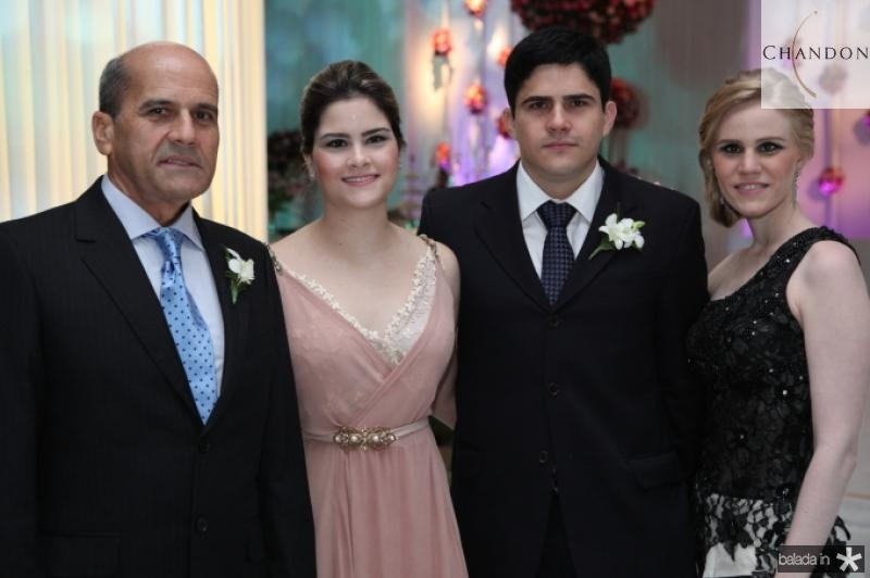 Jose, Camile e Anderson Quintao e Lia Lousada