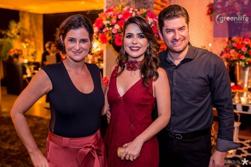 Cecilia Seligman, Camila Benevides e Paulo Jose Benevides