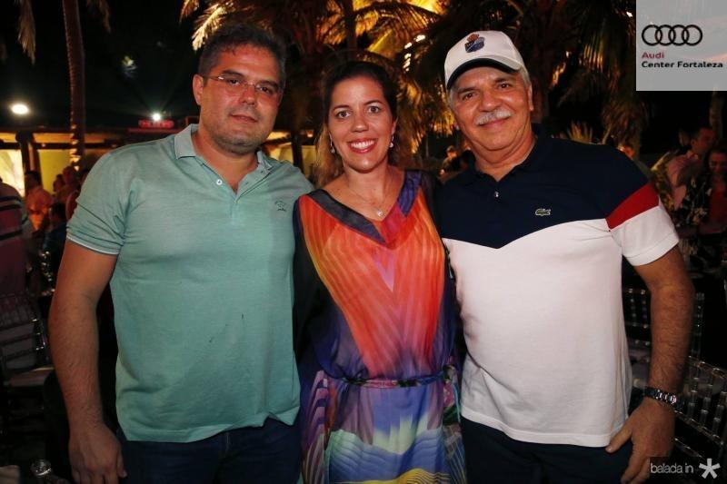 Edson e Ticiana Queiroz e Pio Rodrigues