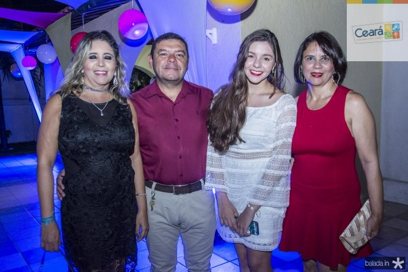 Joana Felcha, Eduardo Flecha, Vitoria Flecha e Joelma Almeida