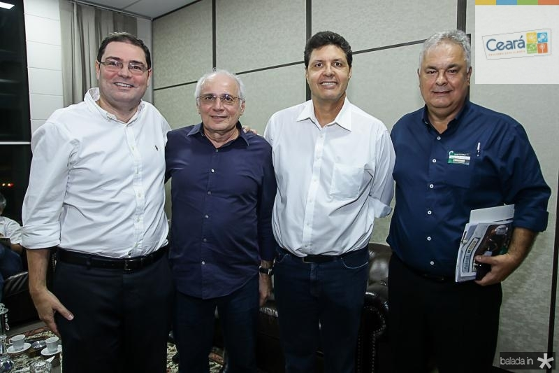 Roberto Ramos, Ricardo Sabadia, Marcos Oliveira e Assis Cordeiro