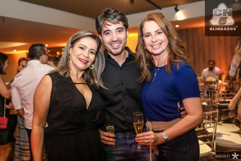 Gina Paiva, Rodrigo Porto e Marcia Andrea