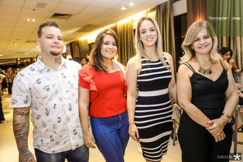 Ralfo Ifanger, Luiza Garzon, Talita Pedreira e Cinara Nogueira