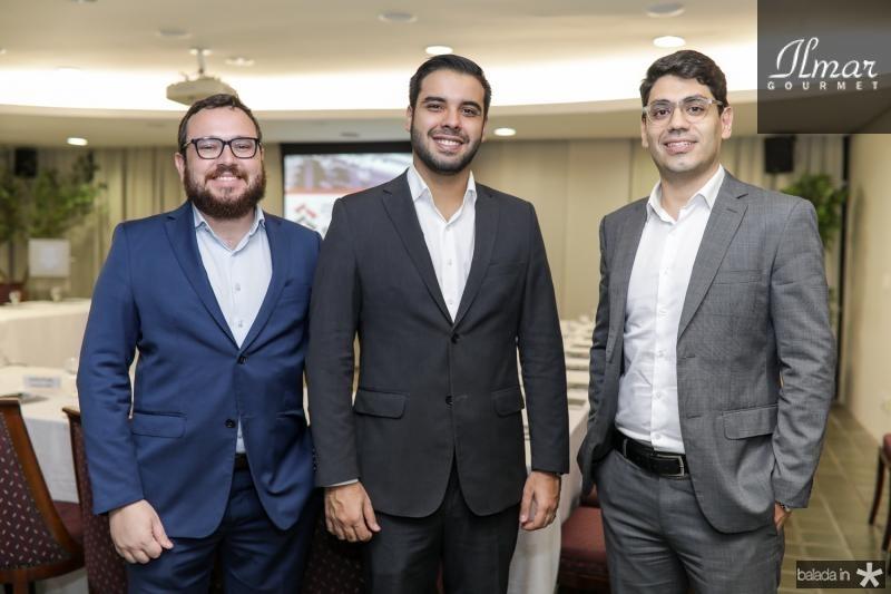 Marcus Souza, Ilo Marques e Gustavo Bevilaqua