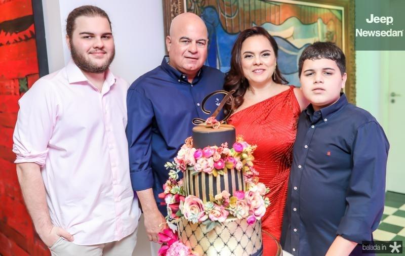 Leopoldo, Luciano, Denise e Lorenzo Cavalcante