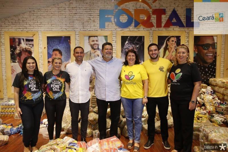 Flavia Martins, Sandra Bezerra, Reno Vercosa, Colombo Cialdini, Sandra Salgado, Kayke Maia e Rosangela Formentin