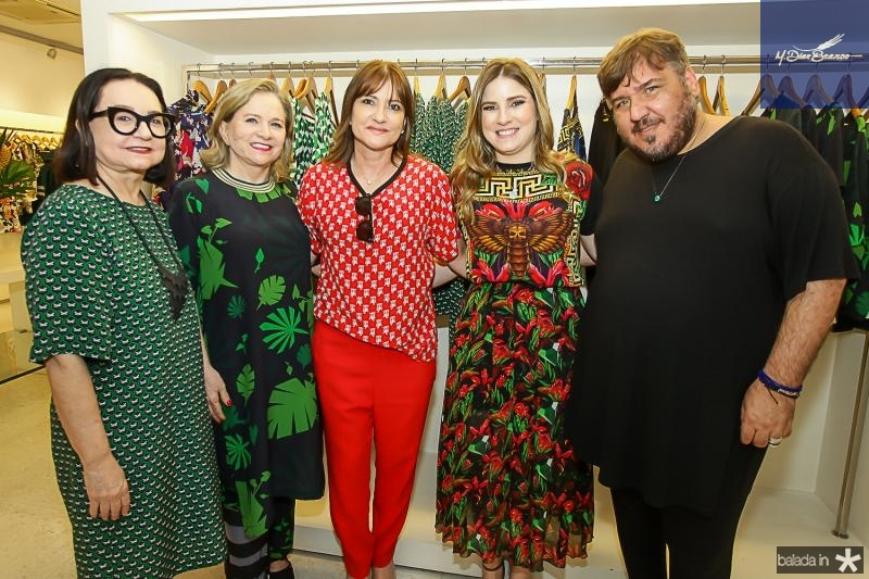 Celi Andrade, Netercia Jereissati, Pretinha Rolim, Maria Clara Dalolio e Leonan Dantas
