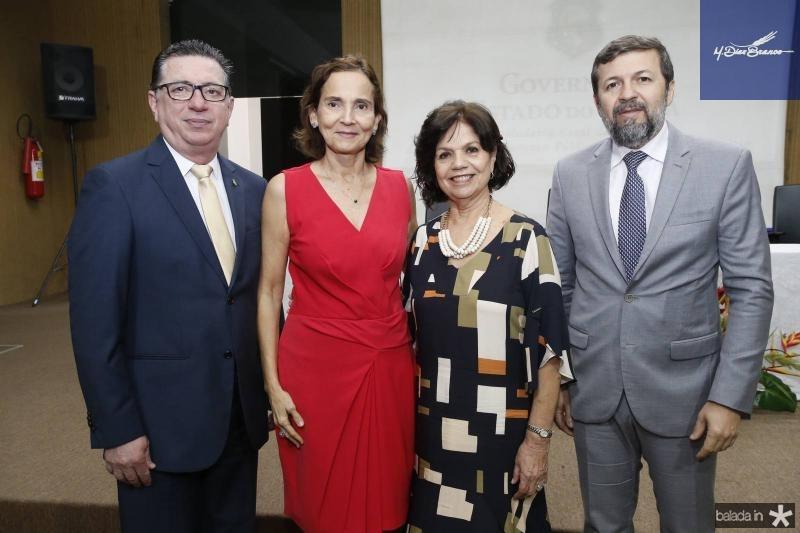 Flavio Juca, Izolda Cela, Candida Torres de Melo e Elcio Batista
