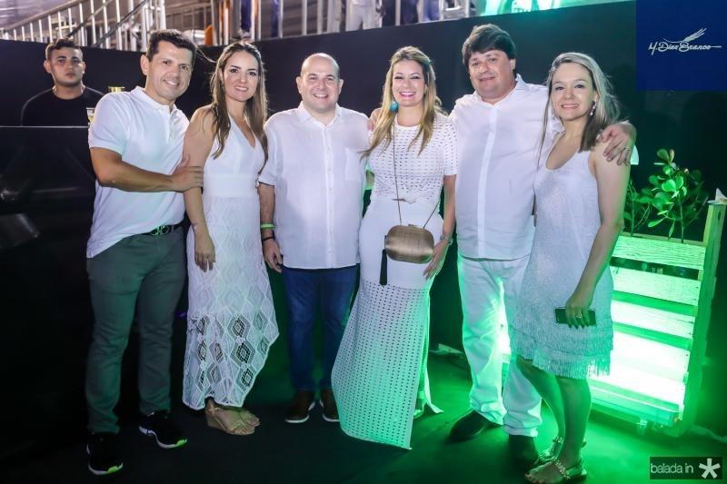 Erick e Raquel Vasconcelos, Roberto Claudio, Tatiana Luna, George e Erica Lima