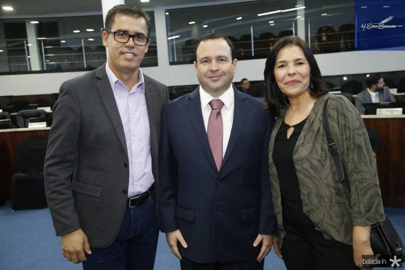Edson Geraldo, Igor Barroso e Stella Souza