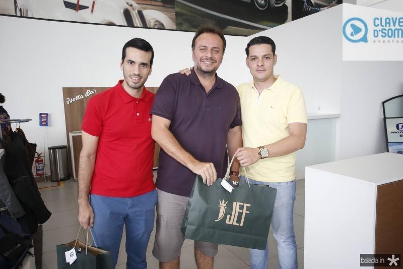 Pontes Neto, Adriano Nogueira e Saulo Parente