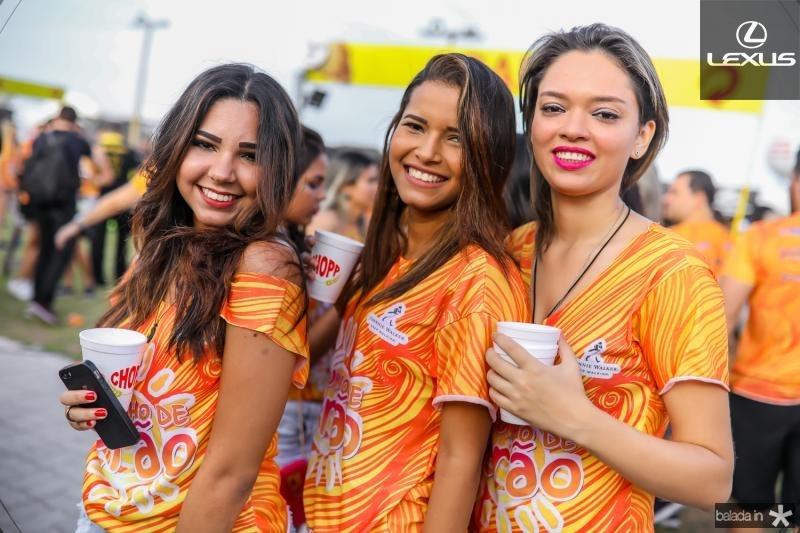 Dalia Ribeiro, Jessica Almeida e Carla Emanoela