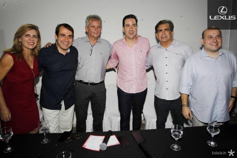 Denise, Salmito Filho, Andre Figueiredo, Eduardo Bismarck, Zezinho Albuquerque e Roberto Claudio