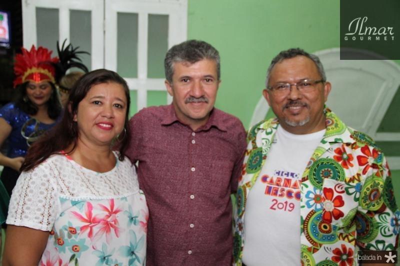 Edileuza Bandeira, Antonio Henrique e Gilva Paiva