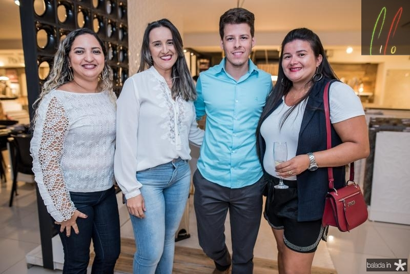 Elizabeth Vitorino, Edna Sales, Junior Melo e Eveline teixeira