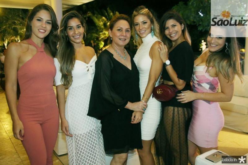 Dani Eloi, Lais Moraes, Paula Frota, Bruna Waleska Nicole Camdeborde e Vanessa Melo