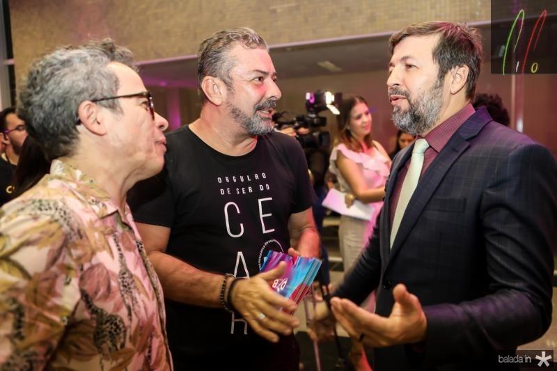 Fabiano Piuba, Claudio Silveira e Elcio Batista