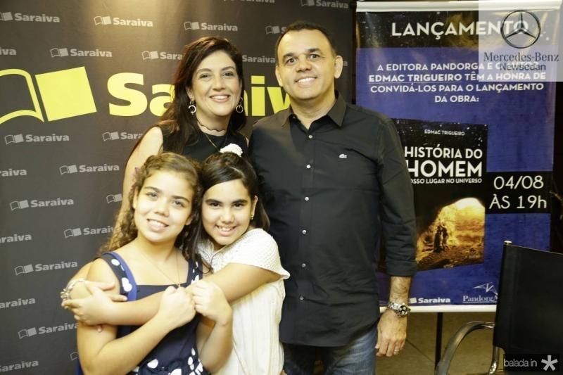 Manuela Noleto, Lana e Giovana e Edmac Trigueiro