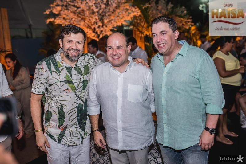 Elcio Batista, Roberto Claudio e Rodrigo Pereira