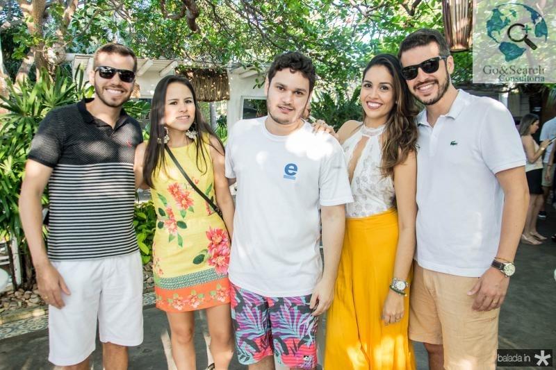 Renan Melo, Clara Ximenes, Cristiano Machado, Lia Amaral e Wanderley Junior