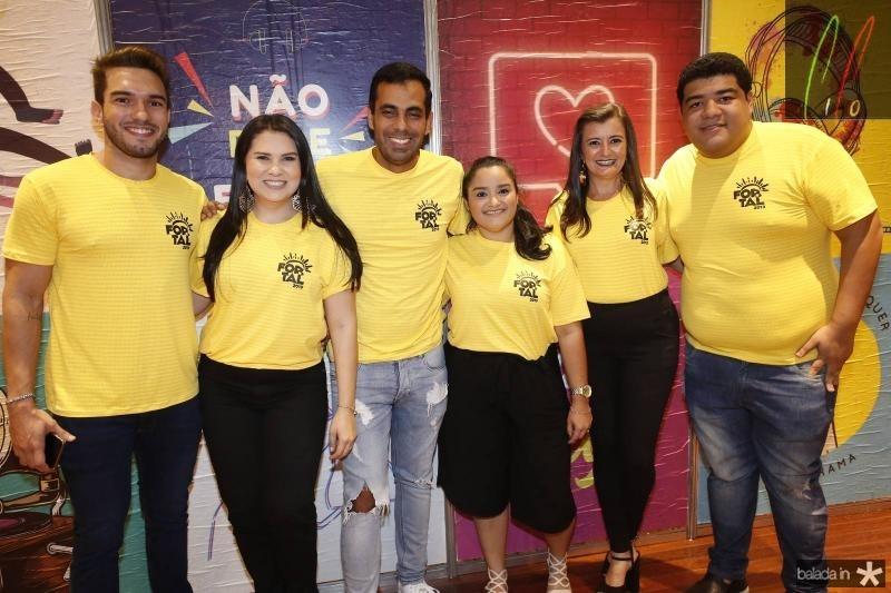 Kaike Maia, Flavia Martins, Leo Ribeiro, Nayara Castro, Sandra Bezerra e Anderson Queiroz