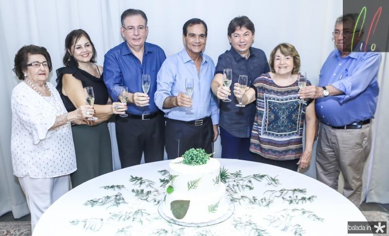 Holandina, Rosangela e Ricardo Cavalcante, Beto Studart, Edigar Gadelha, Cidonia Pereira e Roberto Macedo