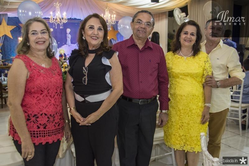 Martha Costa, Lena Cabral, Cesar Costa, Ana Mesquita e Francisco Mesquita