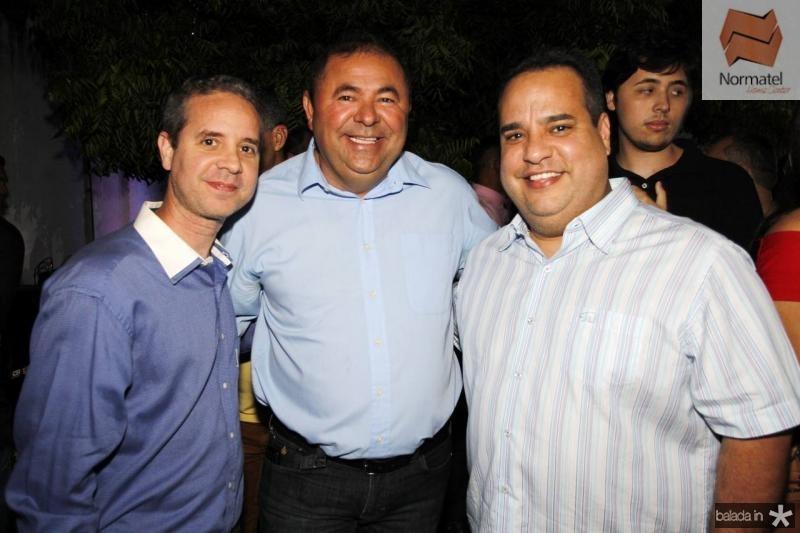 Mauro Junior, Eduardo Lima e Marcos Cavalcante