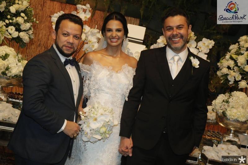 Roberto Alves, Tatiana Mendes e Gustavo Cruz