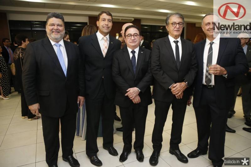 Colombo Cialdini, Gony Arruda, Manoel Linhares, Arialdo Pinho e Julio Cosentino