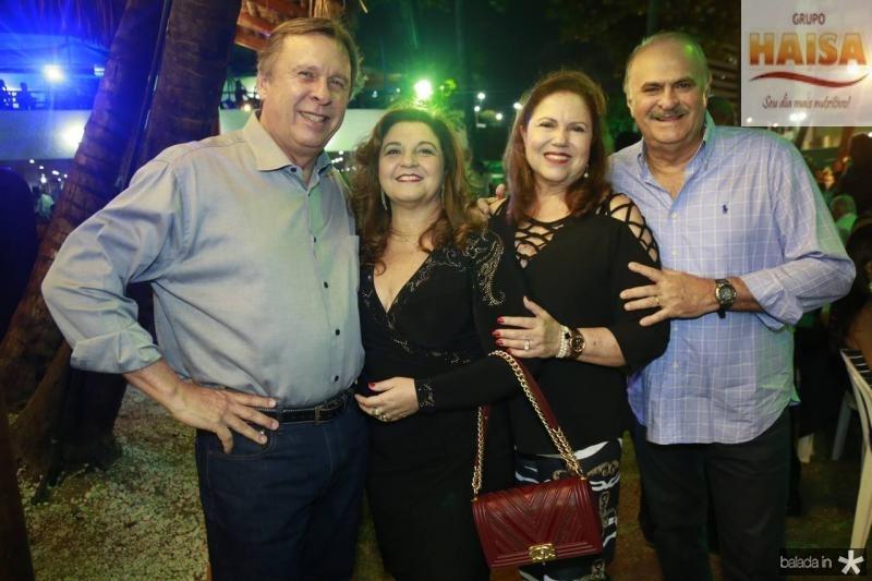 Jose e Jaqueline Simoes, Germana e Adriano Viana