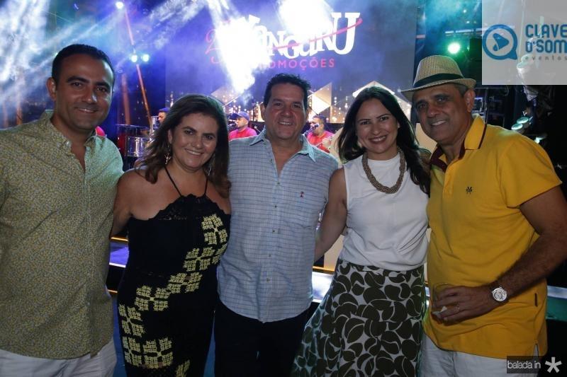 Reno e Islane Vercosa, Fabio Junior, Camila Nobre e Andre Vercosa
