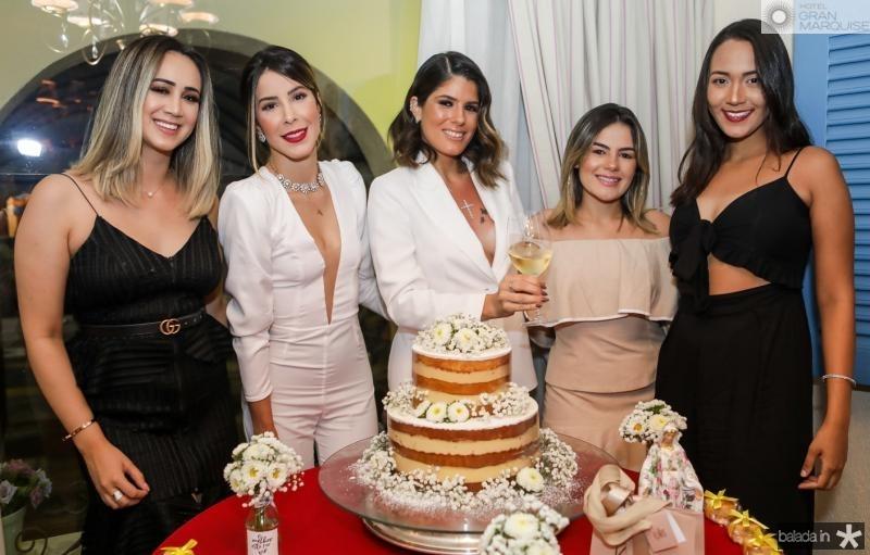 Luana Aragao, Tabata Farias, Taynã Albuqueque, Laiane Brito e Mara Marques