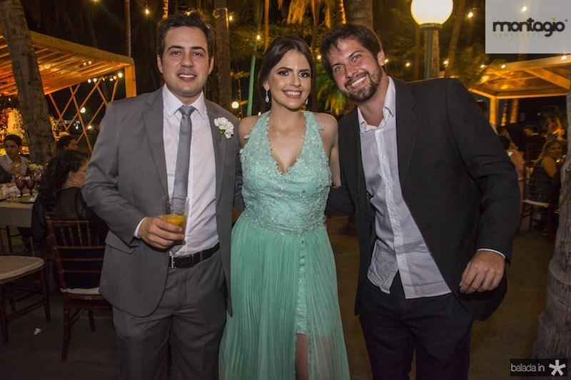 Davi Cavalcante, Marilia Rabelo e Gregorio Brito