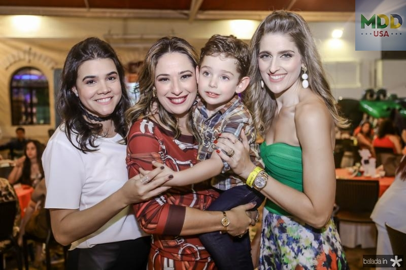 Priscila, Silvinha, Sylvio e Rebeca Leal