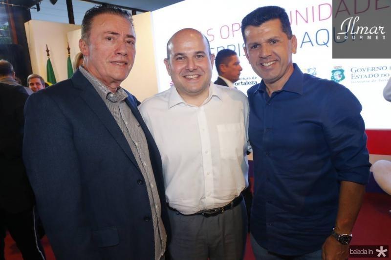 Darlan Leite, Roberto Claudio e Erick Vasconcelos